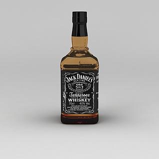 杰克·丹尼威士忌3d模型