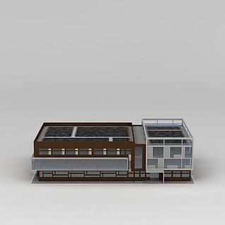 活动中心建筑3d模型