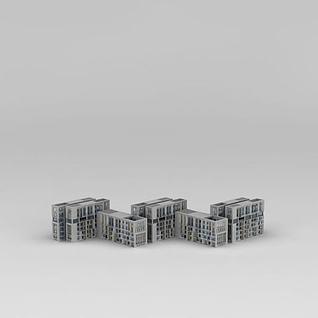公寓楼3d模型