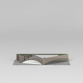 展览馆3d模型