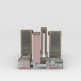 综合办公楼3d模型3d模型