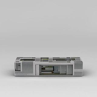 现代综合办公楼3d模型