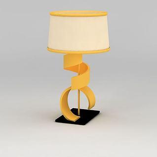 橙色台灯3d模型