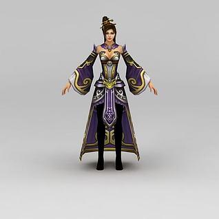 游戏美女人物3d模型