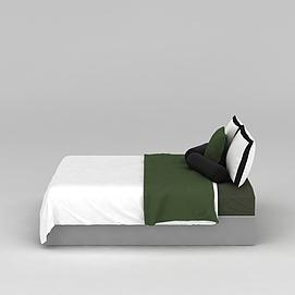简约床上用品3d模型