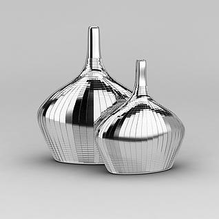 创意不锈钢花瓶3d模型3d模型
