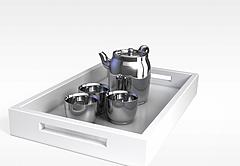 不锈钢茶具模型3d模型