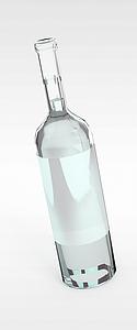 啤酒玻璃瓶模型3d模型