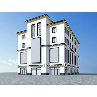 藏式商场建筑3d模型