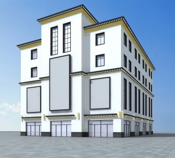 藏式商场建筑