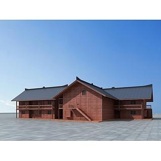 生态木屋3d模型