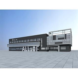 自建办公楼3d模型3d模型