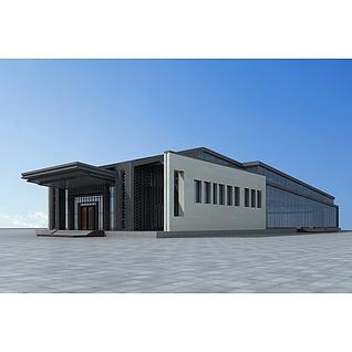 高档会所建筑3d模型