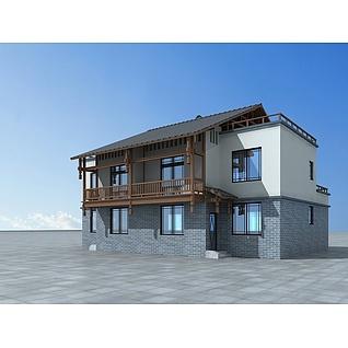 民房改造房3d模型
