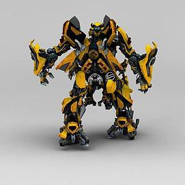 变形金刚大黄蜂3d模型