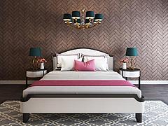 现代卧室双人床床头柜组合模型3d模型