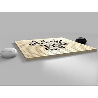 围棋盘3d模型