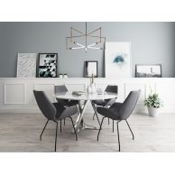 北欧休闲办公桌椅吊灯组合3D模型3d模型