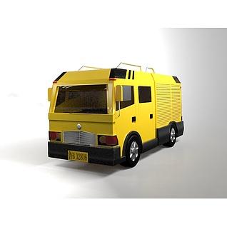 工程抢险车3d模型