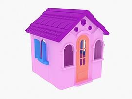 儿童塑料小屋模型