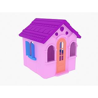 儿童塑料小屋3d模型