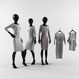 服装模特架模型