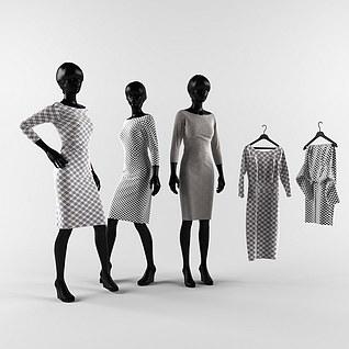 服装模特架3d模型