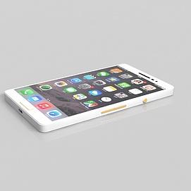 3d白色<font class='myIsRed'>手机</font>模型