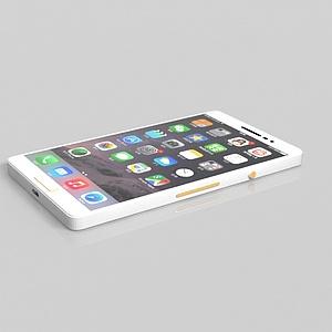 3d白色<font class='myIsRed'>手機</font>模型