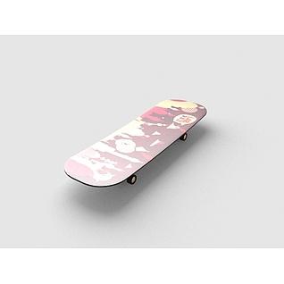 滑板3d模型