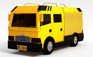 3d工程搶險車模型