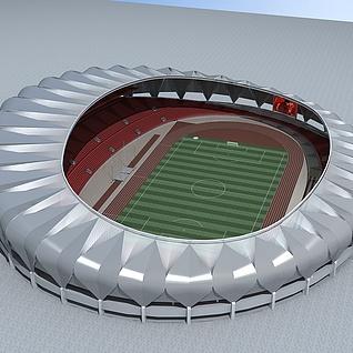现代体育馆3d模型