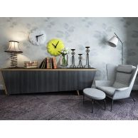 灰色休闲沙发椅边柜组合3D模型3d模型