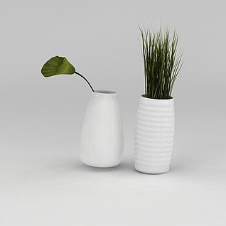 迷你花瓶绿植3d模型3d模型