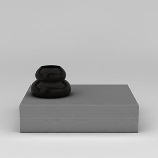 工艺摆件和盒子3d模型