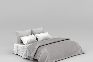 现代卧室大床