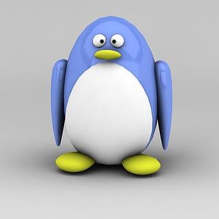 卡通企鹅3d模型3d模型