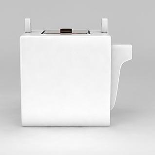 方形陶瓷壶3d模型