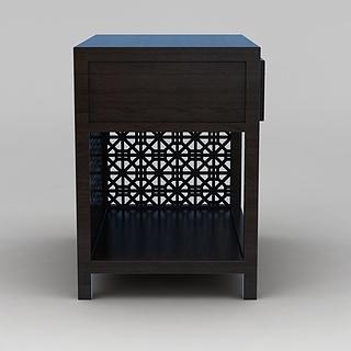 实木镂空雕花柜子3d模型