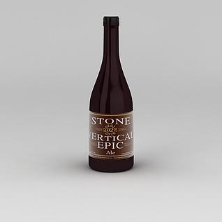 洋酒3d模型
