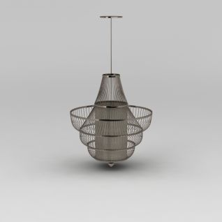 大厅豪华金属吊灯3d模型