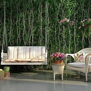 庭院吊椅休闲椅3d模型