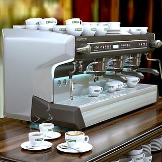 专业咖啡机3d模型