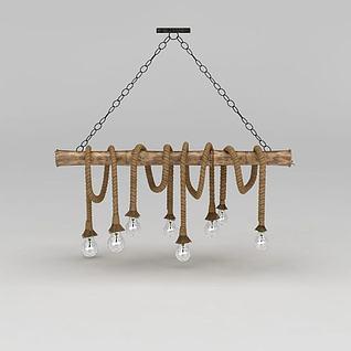 麻绳吊灯3d模型