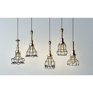 工业餐厅吊灯3d模型