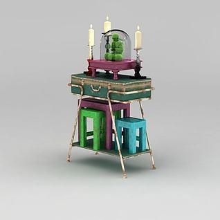 复古欧式柜子3d模型