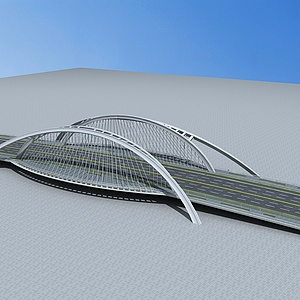 现代大桥模型