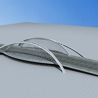 现代大桥3d模型