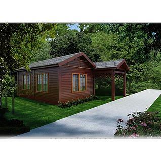公园木屋3d模型3d模型