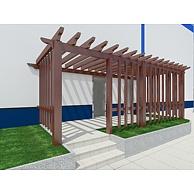 中式实木廊架3D模型3d模型